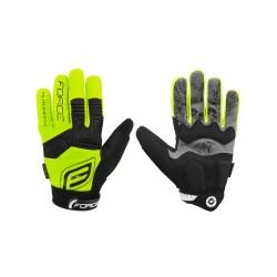 rukavice FORCE MTB AUTONOMY, fluo